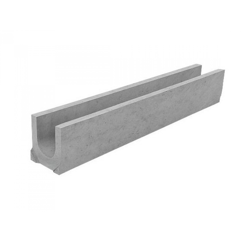 Лоток водоотводный бетонный DN100 H125 арт. 400